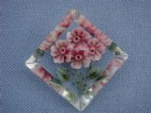 Super Lucite Brooch -1940s - 1950s -  Carved with Four Flowers (SOLD)